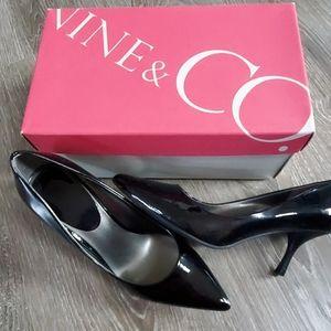 Nine & Co black patent heels